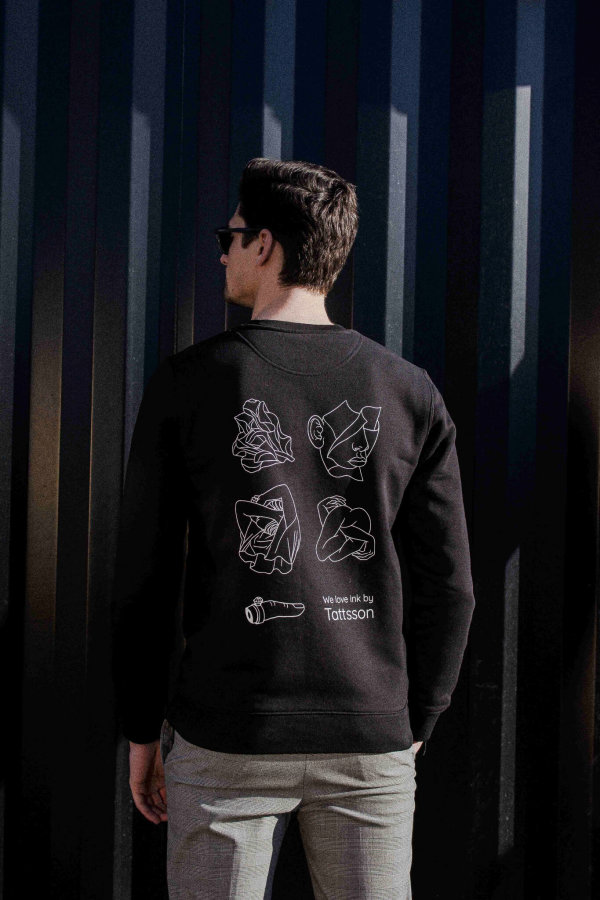 TATTSSON X WINKT collab.<br/>Sweater, black.