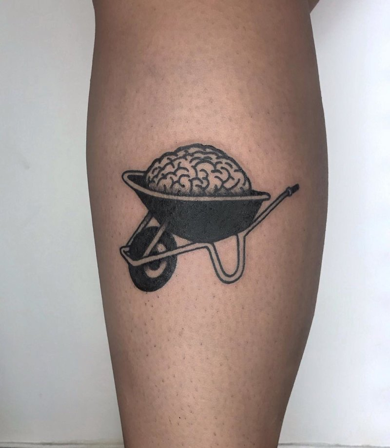 Brain in a wheelbarrow tattoo