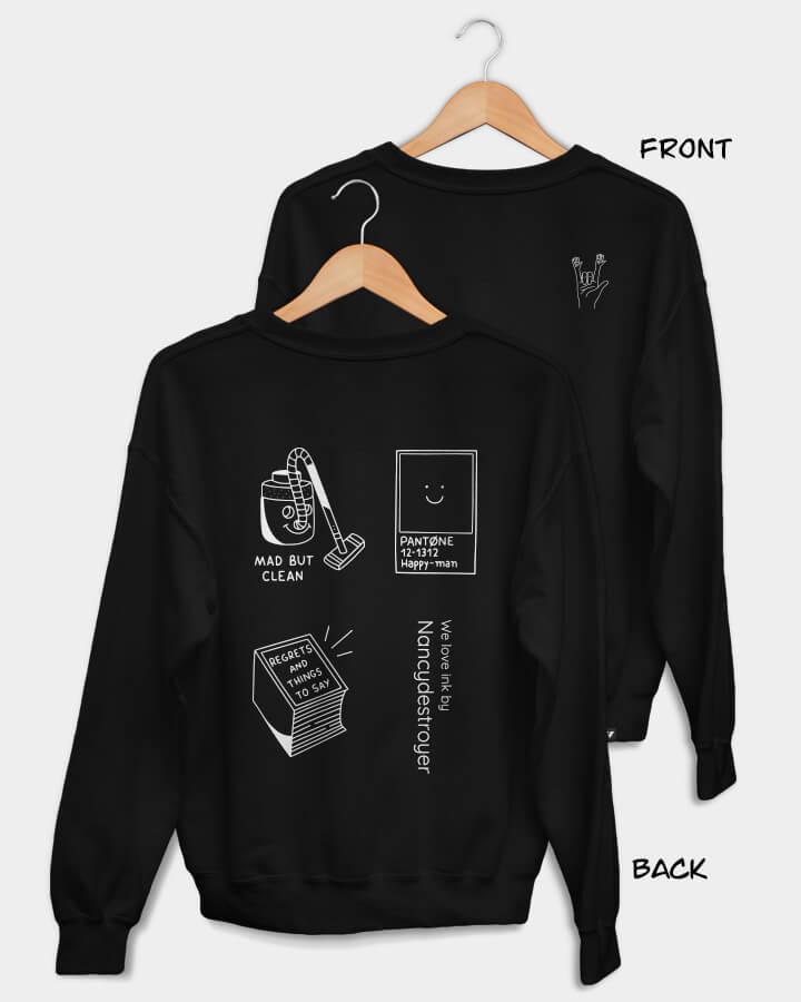 NANCYDESTROYER X WINKT collab.<br/>Sweater, black.