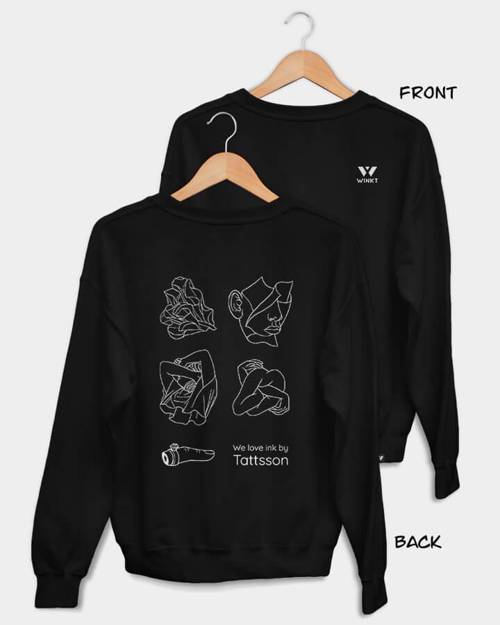TATTSSON X WINKT collab.<br/>Sweater, black.