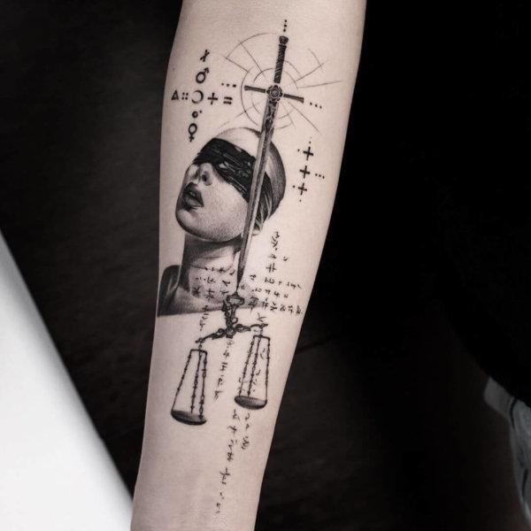 Balazs Bercsenyi balance tattoo