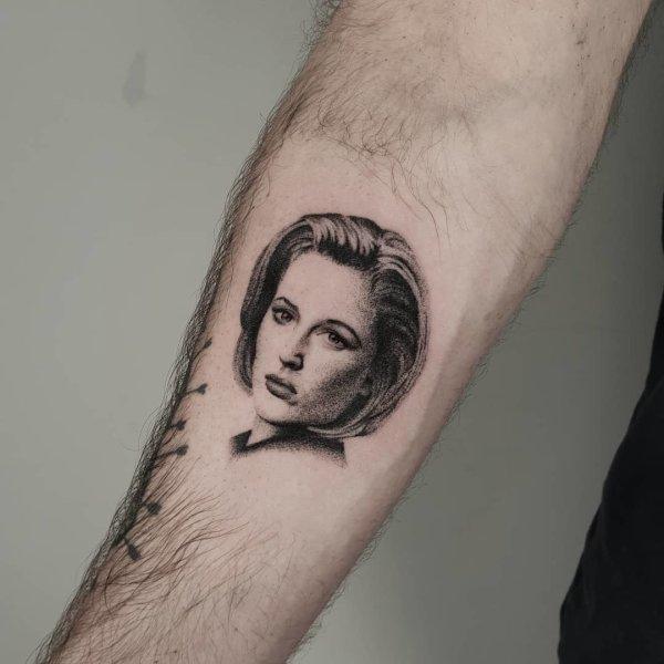 Scully portrait tattoo by Breakkytime