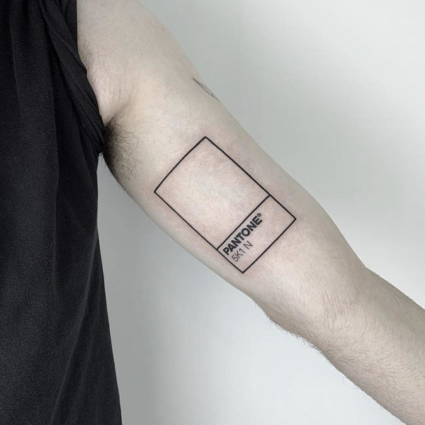 pantone tattoo by Sasha Butmaybe