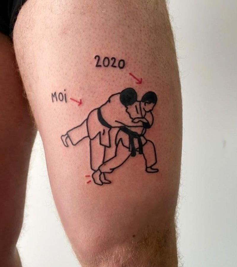 2020 meme judo ignorant tattoo