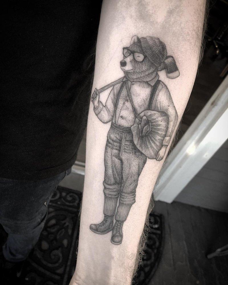 Bear as a human tattoo