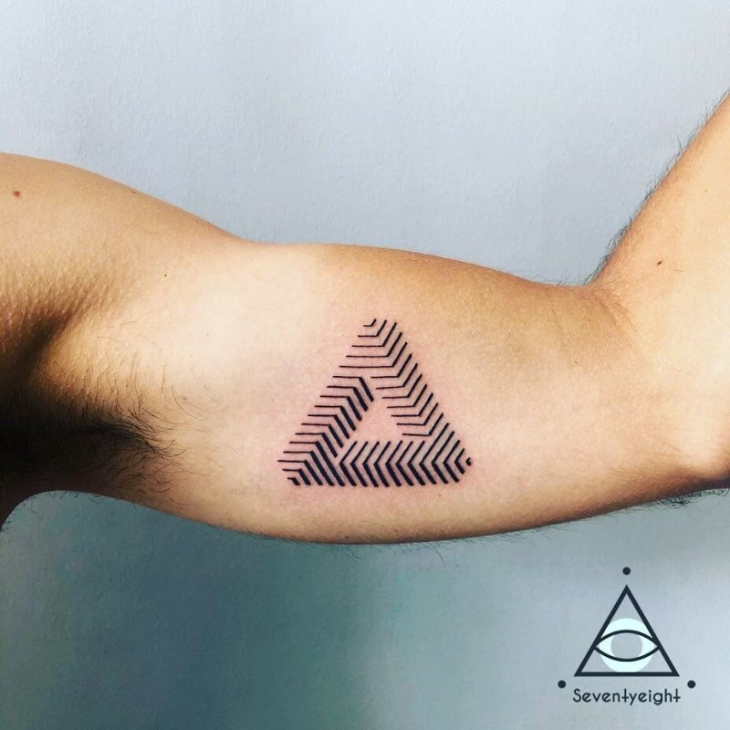Escher penrose impossible triangle tattoo