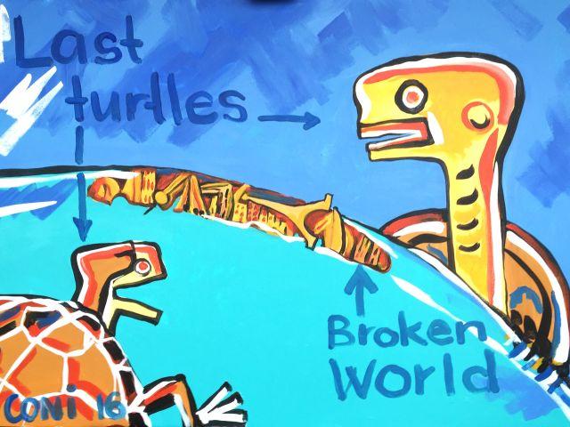 Turtle whispers Kunstprojekt