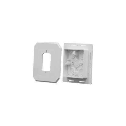 Arlington 8081F Siding Box Kit, Plastic, 15.5 cu-in Capacity, 6.65 in L x 6.65 in W x 1.28 in H