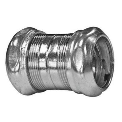 Emerson Electric Appleton® 6150NSR Conduit Coupling, 1-1/2 in, For Use With EMT Conduit, Steel, Electro-Plated Zinc