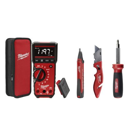 Milwaukee® 2220-20 ECX™ Fastback™ Electrical Combo Kit, 4 Pieces, Plastic/Rubber