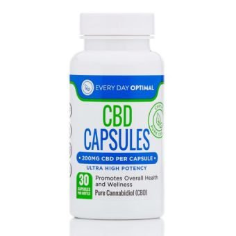 Every Day Optimal - 200mg CBD Capsules | 6,000mg per Bottle