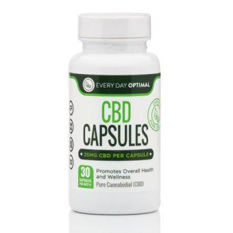 Every Day Optimal - Pure CBD Oil Capsules, 25mg CBD Oil Per Pill