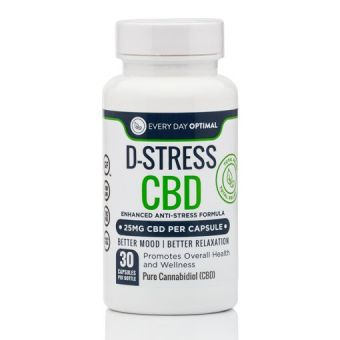 Every Day Optimal - D-Stress CBD Capsules | CBD For Anxiety and Stress