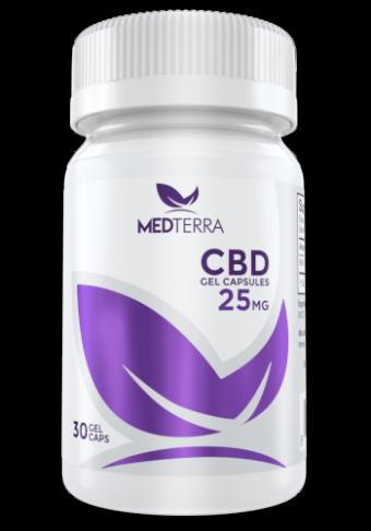 MedTerra - CBD GEL CAPSULES-25mg