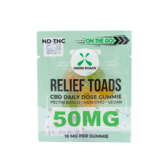 Green Roads - CBD Relief Toads OTG – 50 mg