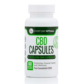 Every Day Optimal - Pure CBD Oil Capsules, 25mg CBD Oil Per Pill