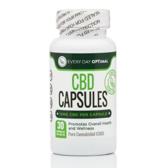 Every Day Optimal - Pure CBD Oil Capsules, 15mg CBD Oil Per Pill