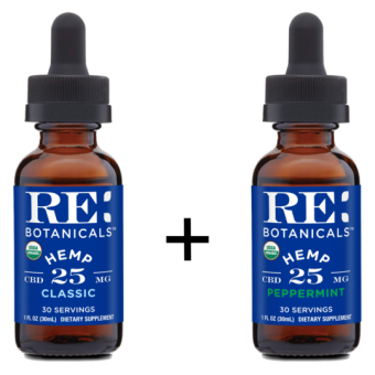RE Botanicals - HEMP 25MG CLASSIC + 25MG PEPPERMINT TINCTURE