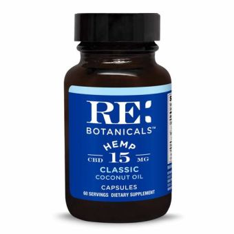 RE Botanicals - HEMP 15MG CLASSIC CAPSULES - 60 SERVINGS