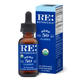 RE Botanicals - HEMP 50MG CLASSIC TINCTURE
