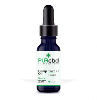 PurCBD - CBD Hemp Oil Tinctures -Natural -250mg