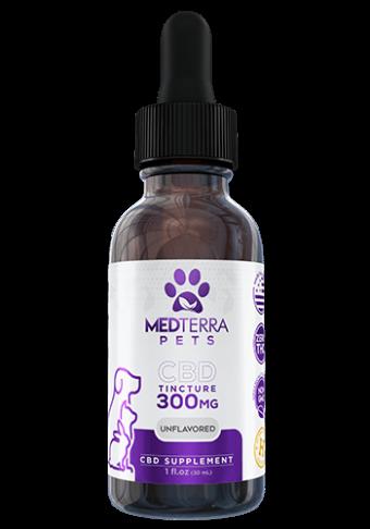 MedTerra - CBD PET TINCTURE- Unflavored Tincture-300mg