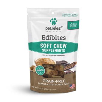 Elixinol - Soft Chew CBD Treats For Large Dogs – Peanut Butter & Carob- For Large Dogs – Peanut Butter Carob Swirl