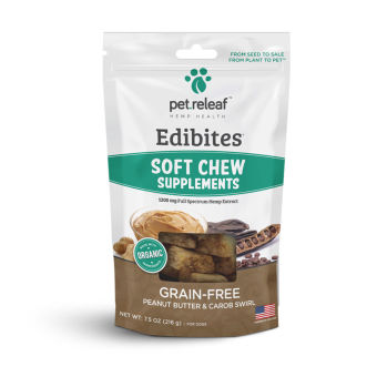 Elixinol - Soft Chew CBD Treats For Dogs – Peanut Butter & Carob