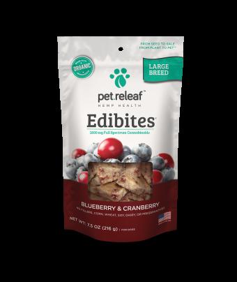 Elixinol - Large Breed CBD Dog Treats – Blueberry Cranberry Edibites