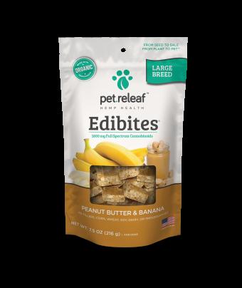 Elixinol - Large Breed CBD Dog Treats – Peanut Butter Banana Edibites