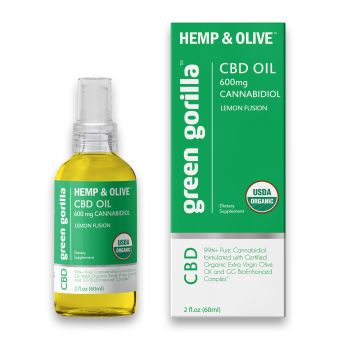 Green Gorilla - Pure CBD Oil 600 mg (Lemon Flavor)