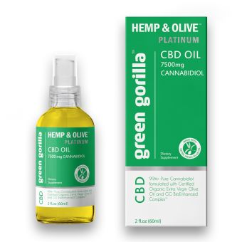 Green Gorilla - Pure CBD Oil 7500 mg
