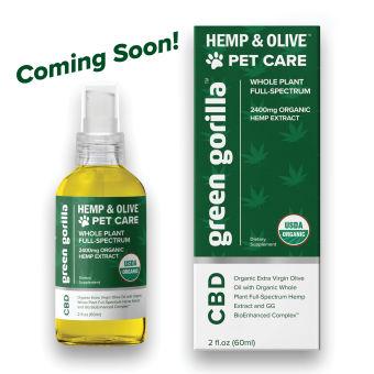 Green Gorilla - USDA Certified Organic Full Spectrum CBD Oil for Dogs & Pets 2400mg