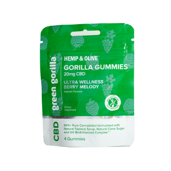 Green Gorilla - CBD Gummies Travel Size 20mg