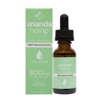anandaHemp - FULL SPECTRUM 300 CBD OIL, PREMIUM HEMP EXTRACT