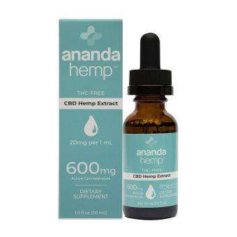 anandaHemp - BROAD SPECTRUM ZERO THC CBD OIL