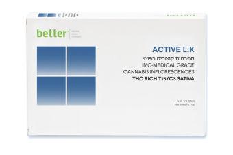 בטר - Better - תפרחות קנאביס רפואי - T15/C3 - Active L.K