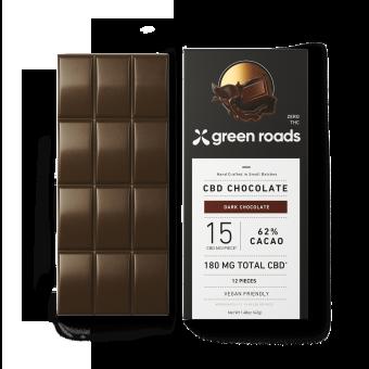 Green Roads - 180MG CBD DARK CHOCOLATE BAR