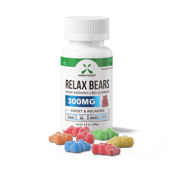 Green Roads - 300MG RELAX BEARS - 30CT BOTTLE