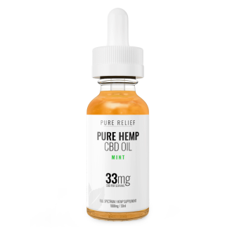 Pure Relief - Full-Spectrum Mint CBD Oil 1000mg