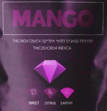 קנדוק - תפרחות קנאביס רפואי | T20/C4 מנגו