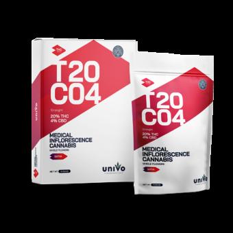 T20/C4 יוניבו - Univo - תפרחות קנאביס רפואי - רד סאנסט - Red Sunset