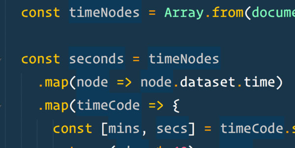 Tally String Times with Reduce