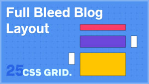 Full Bleed Blog Layout