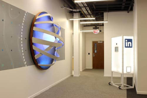 Sculptures by VESL at LinkedIn - Omaha, Omaha - The Future is Bright