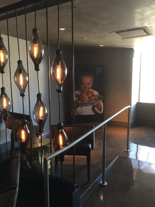 Lighting by icrave at wp24 by wolfgang puck los angeles custom light fixtures