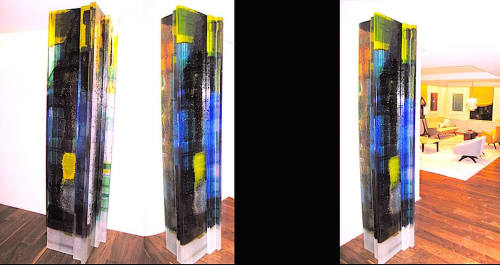 Sculptures by Walter Gordinier at Central Park West Family Residence, New York, New York - Grand Tango glass sculpture