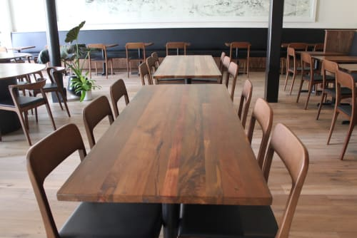 Tables By TRUE Handcrafted At Mister Jiuu0027s, San Francisco   Teak Table Tops