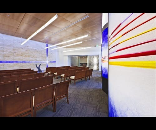 "Sculptures by Walter Gordinier at Baylor University Medical Center, Dallas - ""Cross Over"" ""Interfaith Chapel"" ""Landry Wall"""