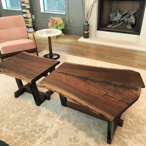 Tables by Michael Leanes Design at Private Residence, Houston, TX, Houston - Split Coffee Table